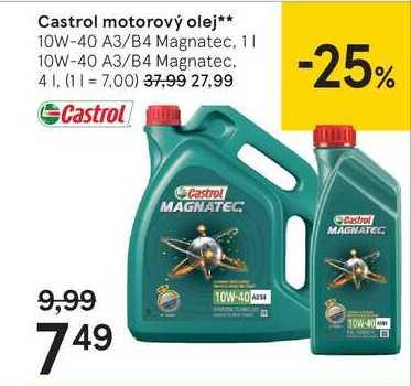 Castrol motorový olej