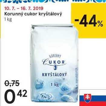 Korunný cukor kryštálový, 1 kg