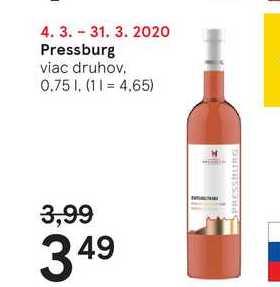 Pressburg, 0,75 l