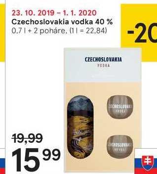 Czechoslovakia vodka 40 %, 0,7 l
