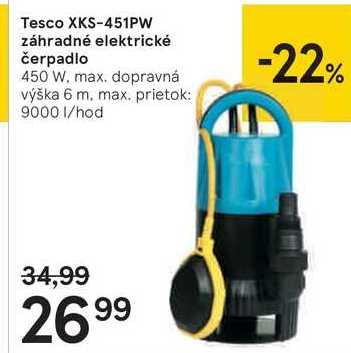 Tesco XKS-451PW záhradné elektrické čerpadlo