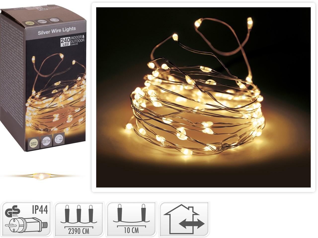 Drôtik 240 LED žlté svetlo 1ks