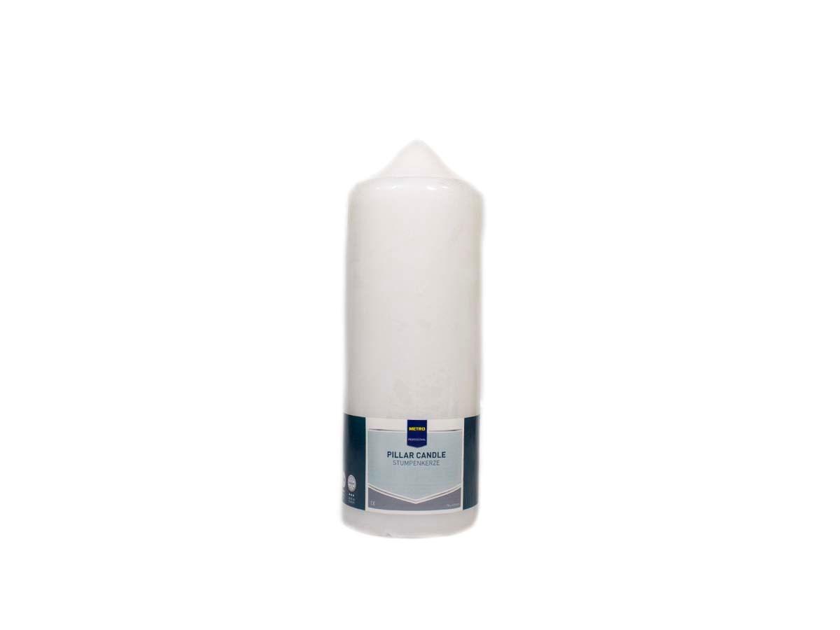 Sviečka biela 8x22cm Metro Professional 1ks