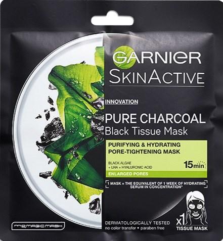 L'Oréal Tissue maska charcoal black 1x28 g