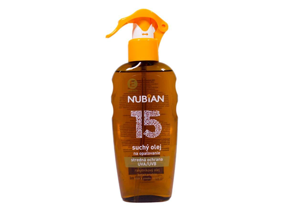 Nubian Olej na opaľovanie OF15 1x200 ml