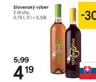 Slovenský výber, 0,75 l
