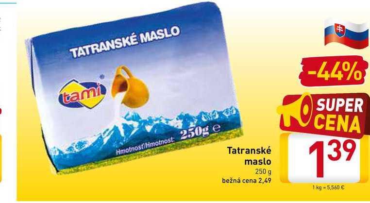 Tatranské maslo 250 g