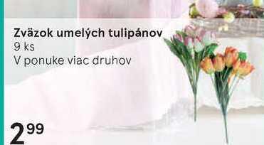 Zvazok umelých tulipanov