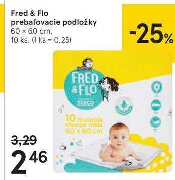 FRED&FLO PREBALOVACIE PODLOŽKY, 10 KS