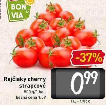 Rajčiaky cherry strapcové  500 g