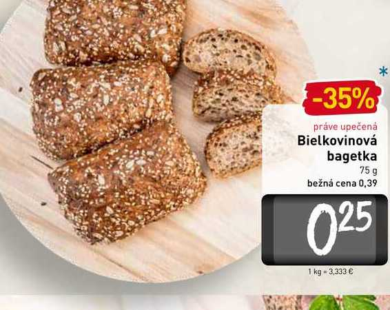 Bielkovinová bagetka 75 g