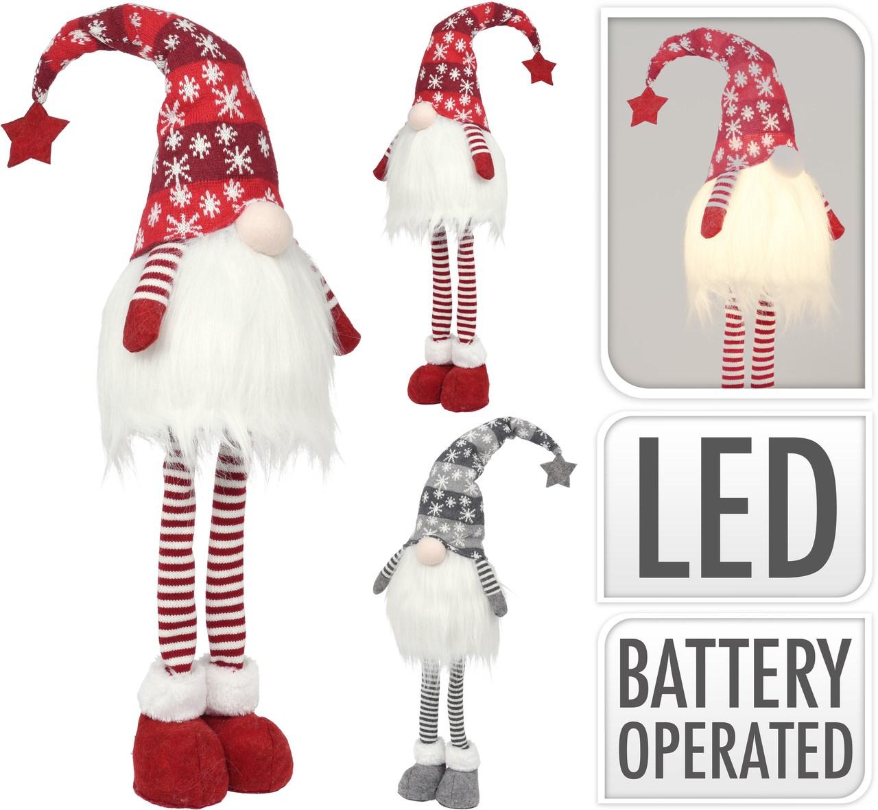 Škriatok textilný LED 90 cm 1ks