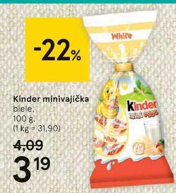 Kinder minivajíčka, 100 g