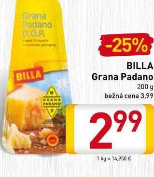 BILLA Grana Padano 200 g