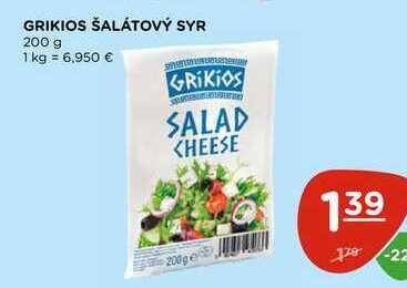 GRIKIOS ŠALÁTOVÝ SYR 200 g