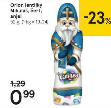 Orion lentilky Mikuláš,čert,anjel, 52 g