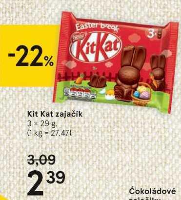 Kit Kat zajačik, 3 x 29 g