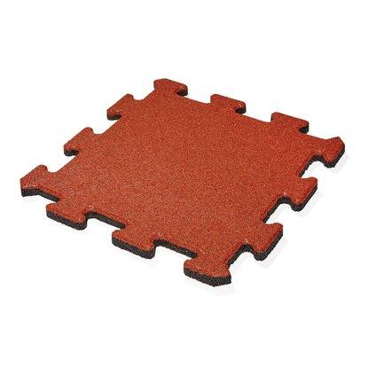 Dlažba gumová MAX3 červená puzzle 50 cm x 50 cm