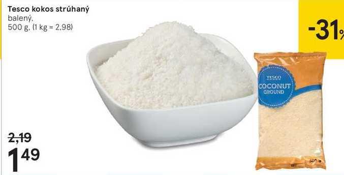 Tesco kokos strúhaný, 500 g