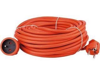Emos Predlžovací kábel oranžový spojka 20 m