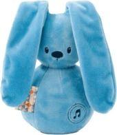 Obrázok Hudobná hračka modrý zajačik, 1 ks