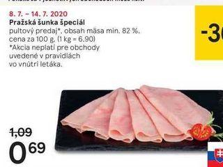 Pražská šunka, 100 g