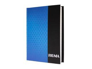 Záznamová kniha linajková A6 80 listov modrá Sigma 1 ks