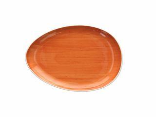 Podnos porcelánový Rush 26cm oranžový Tognana 1ks