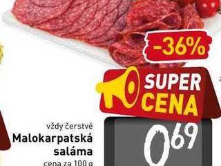 Malokarpatská saláma  100 g