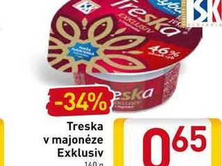 Treska v majonéze Exklusiv 140 g
