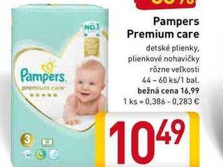 Pampers Premium 44-60 ks
