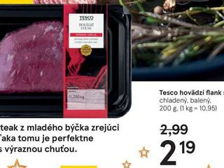 Tesco havedzí flank steak, 200 g