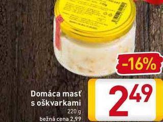 Domáca masť s oškvarkami 220 g