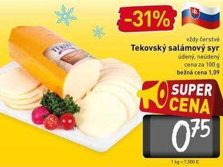 Tekovský salámový syr  100 g