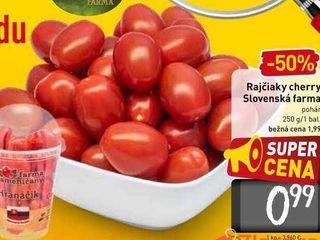 Rajčiaky cherry Slovenská farma pohár 250 g/1 bal.