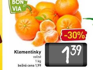 Klementínky  1 kg