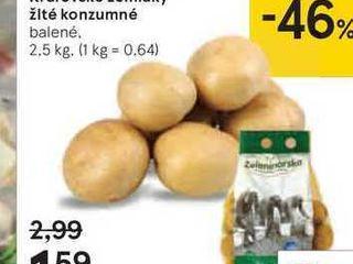 Král'ovské zemiaky žlté konzumné, 2,5 kg