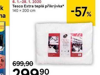 Tesco Extra teplá přikrývka