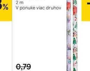 Disney vianočný baliaci papier
