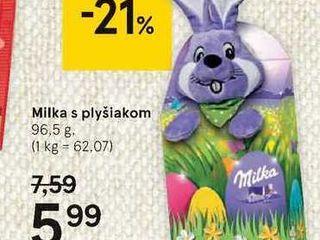 Obrázok Milka s plyšiakom, 96,5 g