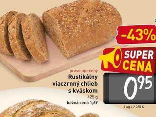 Rustikálny viaczrnný chlieb s kváskom  425 g