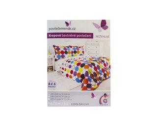 Obliečka bavlna krepová úprava Color 1ks