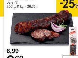 Hubert klobása s jelením mäsom, 250 g
