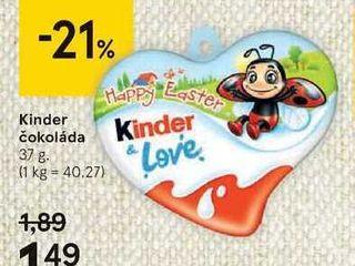 Obrázok Kinder čokoláda, 37 g
