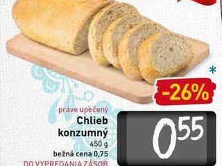 Chlieb konzumný  450 g