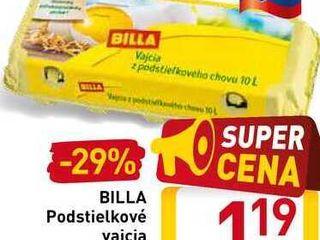 BILLA Podstielkové vajcia  10 ks