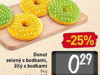 Donut zelený s bodkami, žltý s bodkami 54 g