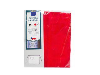 Zástera dlhá červená s vreckom veľ. 2 90x110cm Metro Professional 1ks