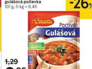 Vitana poctivá gulášová polievka, 101 g
