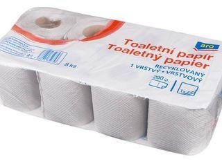 Obrázok ARO Toaletný papier 1-vrstvový 1x8 ks